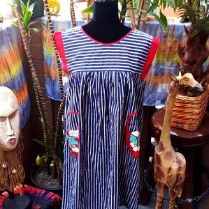 Pinstripe Apron Dress